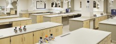 Instrumentation Lab with Steel Style 16 Maple Overlay Cabinets