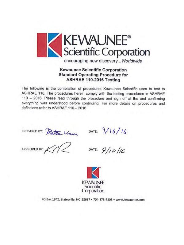 Kewaunee ASHRAE Testing
