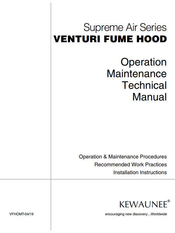 Kewaunee Venturi Fume Hood