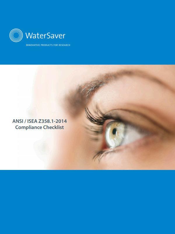WaterSaver ANSI/ISEA Z358.1-2014 Compliance Checklist